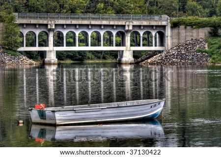 Lonely Rowboat - stock photo