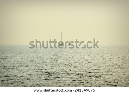 Lonely sea - stock photo