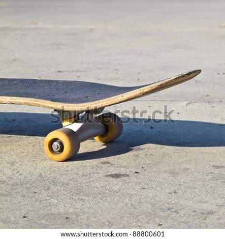 Lonely skateboard - stock photo