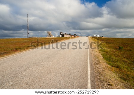 lonely street in finland - stock photo