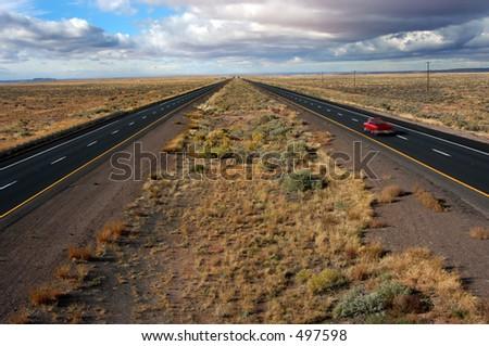 Lonely traveler - stock photo