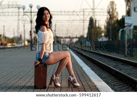 Sexy girls in train sucks