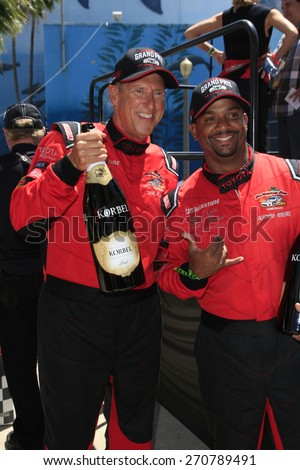 LONG BEACH - APR 18: Dave Pasant, Alfonso Ribeiro at the Toyota Grand Prix Of Long Beach Pro/Celebrity Race - Race Day on April 18, 2015 in Long Beach, California - stock photo