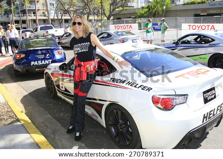 LONG BEACH - APR 18: Tricia Helfer at the Toyota Grand Prix Of Long Beach Pro/Celebrity Race - Race Day on April 18, 2015 in Long Beach, California - stock photo