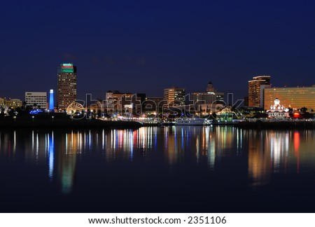 Long Beach California Skyline - stock photo