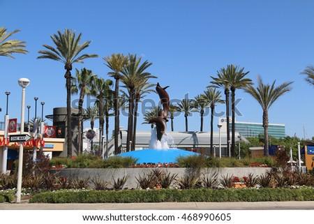 USA - March 16, 2016: The Aquarium of the Pacific is a public aquarium ...
