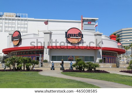 Long Beach, California, USA - March 16, 2016: The Laugh Factory is a chain of comedy clubs in the United States.
