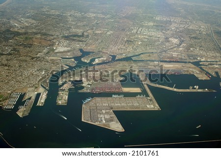 Long beach industrial coast, Los Angeles, California