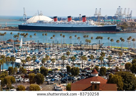 LONG BEACH, USA - JULY 30: Thousands of cars and boats come to the Crawfish Festival on July 30, 2011 in Long Beach, USA. Crawfish Festival has become a tradition to thousands of festival goers. - stock photo