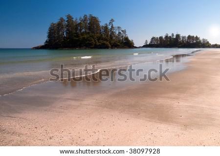 Long beach, Vancouver Island, Canada - stock photo