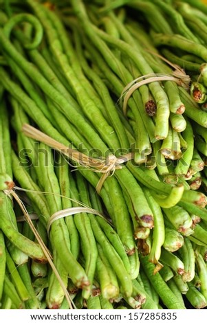 long bean in the market