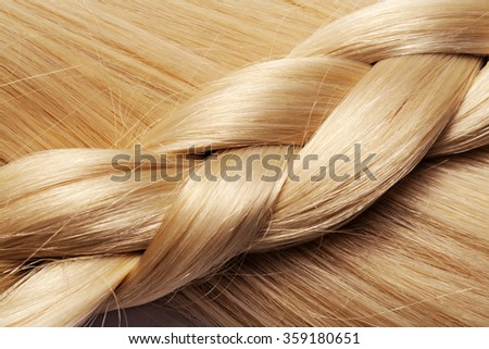 long blond hair braid - stock photo