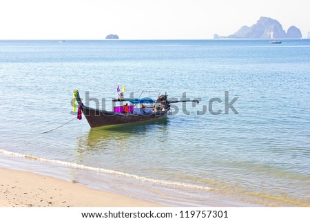 Long boat in Thailand ,Tropical beach