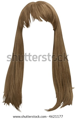 Long Brown Hair - hand made