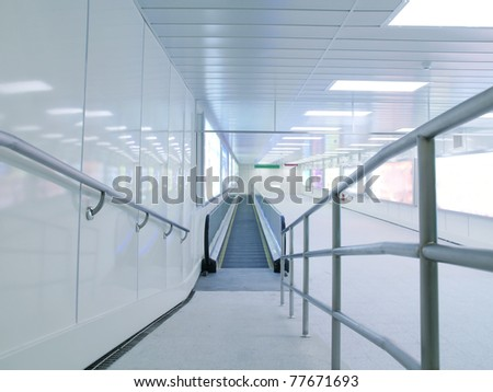 Long corridor in underground passage
