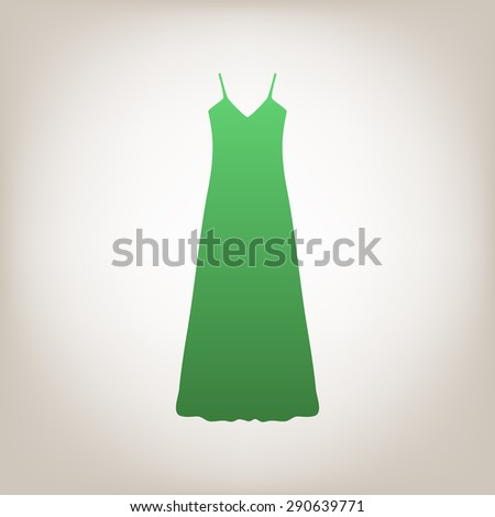 Long Dress, Evening dress, combination or nightie, the silhouette. Menu item in the web design. - stock photo