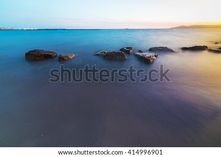 long exposure in Alghero shoreline, Sardinia