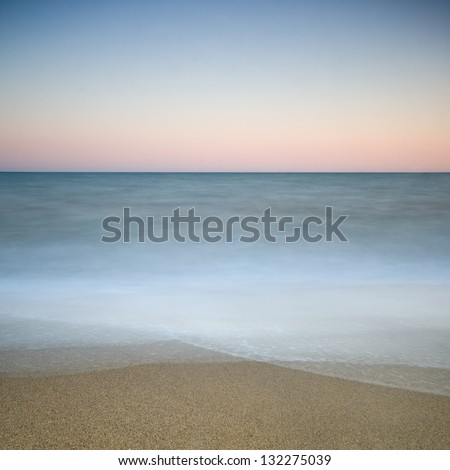 Long exposure shot of the Black Sea during sunset - stock photo
