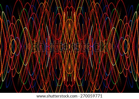 Colourfull Stock s & #1: stock photo long exposure small neon lights texture modern art abstract colourfull neon light
