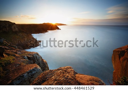 Long exposure sunrise over the cliffs of Morgan May, Wild Coast - South Africa
