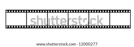 Long Film Strip With Six Frames, 35mm Format, Background - stock photo