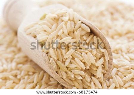 Long Grain Rice - stock photo