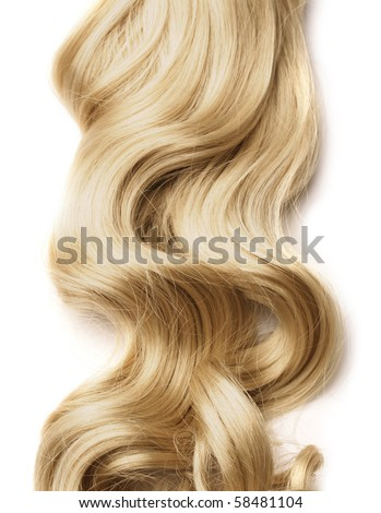 long hair as background - stock photo