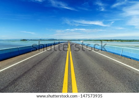 Long Highway - stock photo