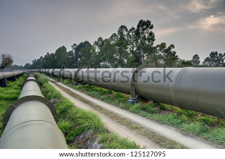 Long huge water pipes in Hong Kong