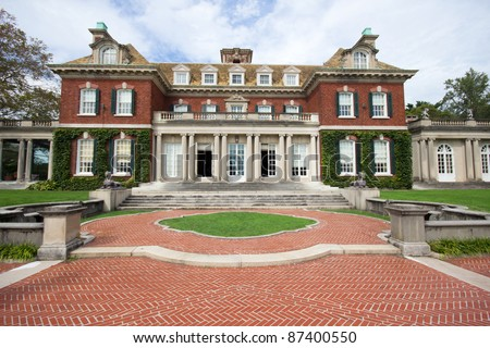 Long Island Gold Coast Mansion at Old Westbury Gardens - stock photo