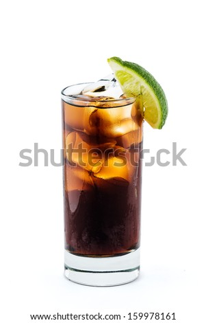 Long Island Iced Tea cocktail isolation with clipping path