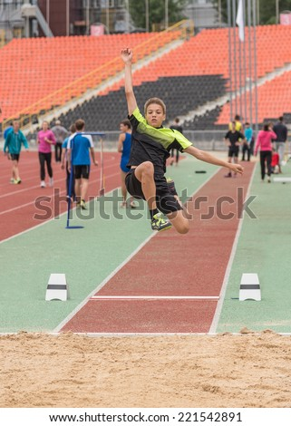 long-jump - stock photo