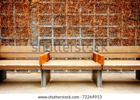 long lawn in park and grass wall - stock photo