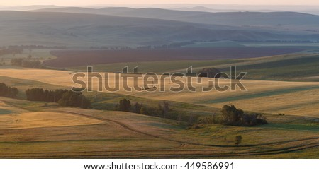 long mountains landscape south ural russian nature