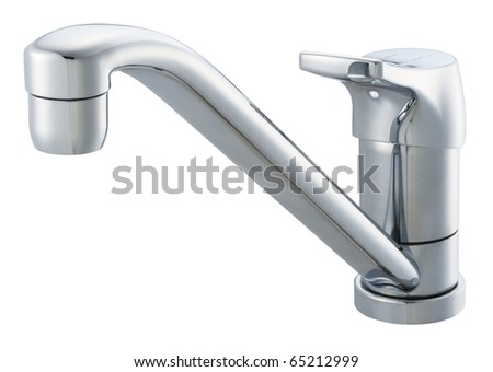 Long nose tap isolated white background