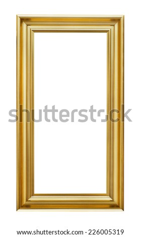 Good Long Picture Frame On White Background