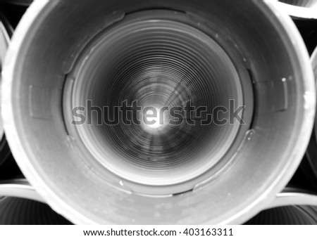 long plastic tube for laying conduits of multiutilies with the hole at the bottom