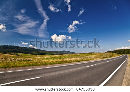 Long road - stock photo