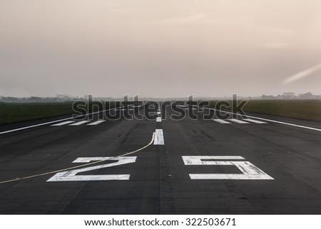 Long runway.  - stock photo