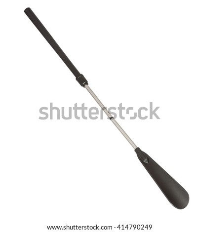 Long Shoehorn isolated on white with clipping path - stock photo