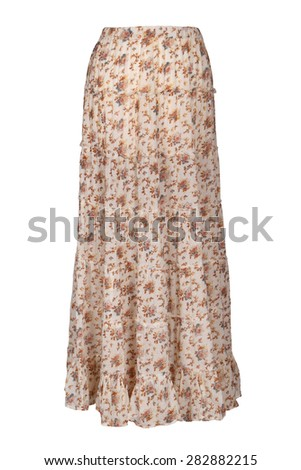 long skirt isolated - stock photo