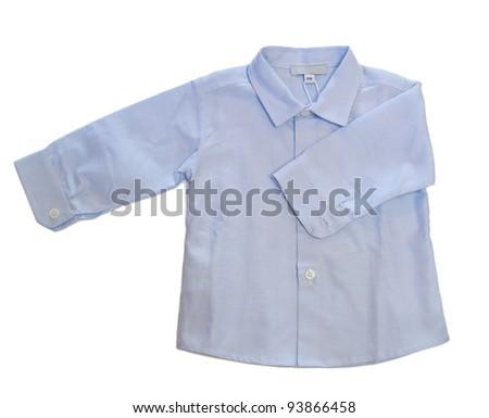 Long sleeved baby boy shirt - stock photo