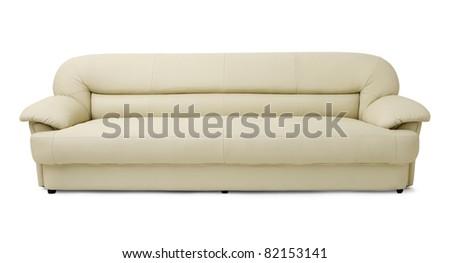 Long sofa - stock photo