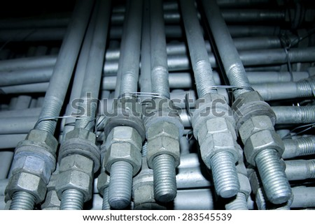 Long steel bolts & nuts