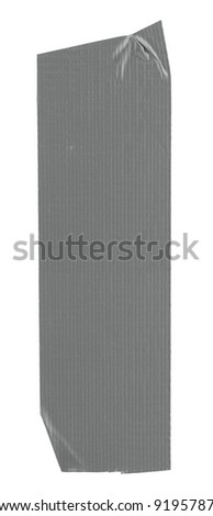 long stripe of duct tape, edges are naturaly frayed - stock photo