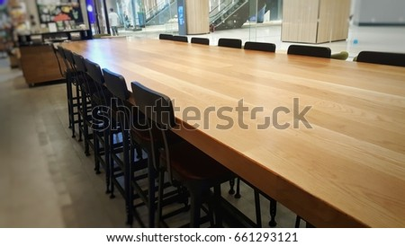 Long Table Cafe Stock Photo Edit Now Shutterstock - Long cafe table