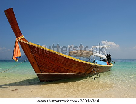 Long tail boat - stock photo