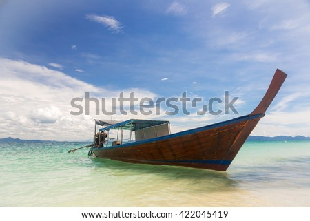 video clip stock fooe thailand thai traveling traditional long tail boat maya