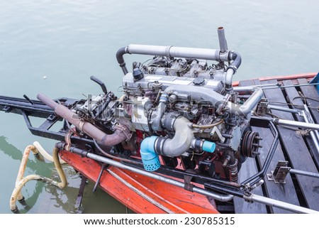Long tail boat engine, Thailand