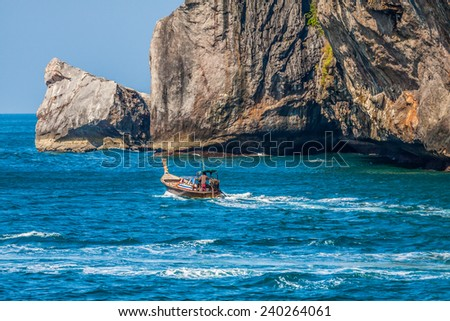 Long tail boat, Ko Phi Phi, Thailand - stock photo